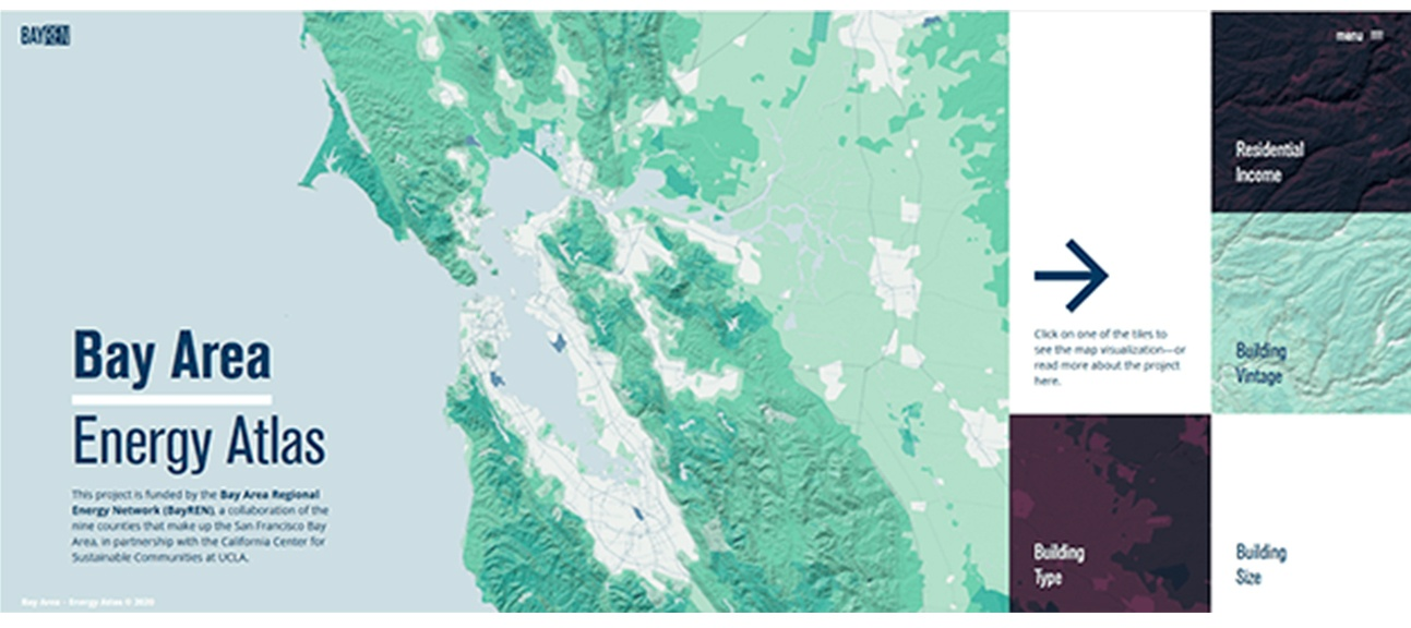 landing page for Bay Area Energy Atlas